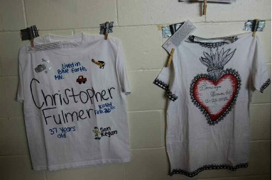 T-shirts from the Minnesota Coalition for Battered Women's Clothesline Project to commemorate Minnesotans murdered as a result of domestic violence in 2012